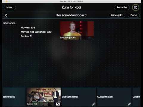 Kyra for Kodi 2 - Personal Dashboard demo