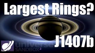 HUGE planetary rings of J1407b in Universe Sandbox 2