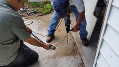 How To Apply Termidor or Tauros To A Concrete Slab To Kill Termites - Part 1  - Drilling Holes