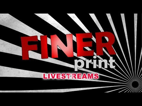 THE FINER PRINT LIVESTREAM - Testing out OBS