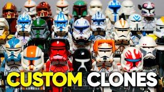 All My LEGO Star Wars Custom Clone Troopers Collection   Все Мои Кастомные ЛЕГО Клоны   Коллекция