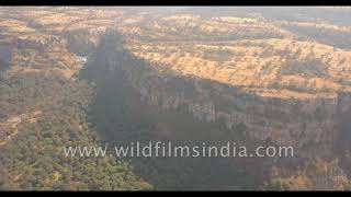 Ranthambhore Tiger Reserve in Rajasthan: forests outside Sawai Madhopur as seen from the air