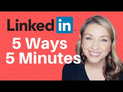 LinkedIn Tips: 5 ways to network in 5 minutes