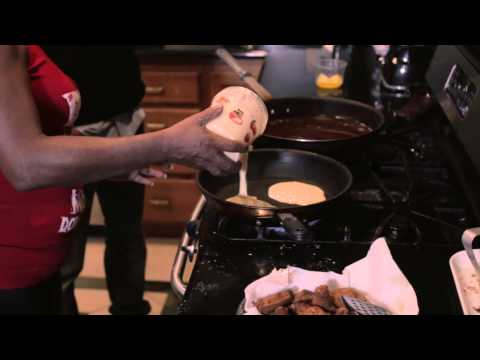 Auntie fee's instructions chicken and pancakes