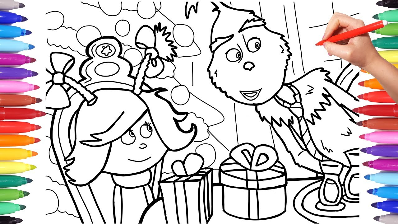 How the Grinch Stole Christmas Coloring Pages for Kids, Coloring New  Grinch, Grinch Best Coloring