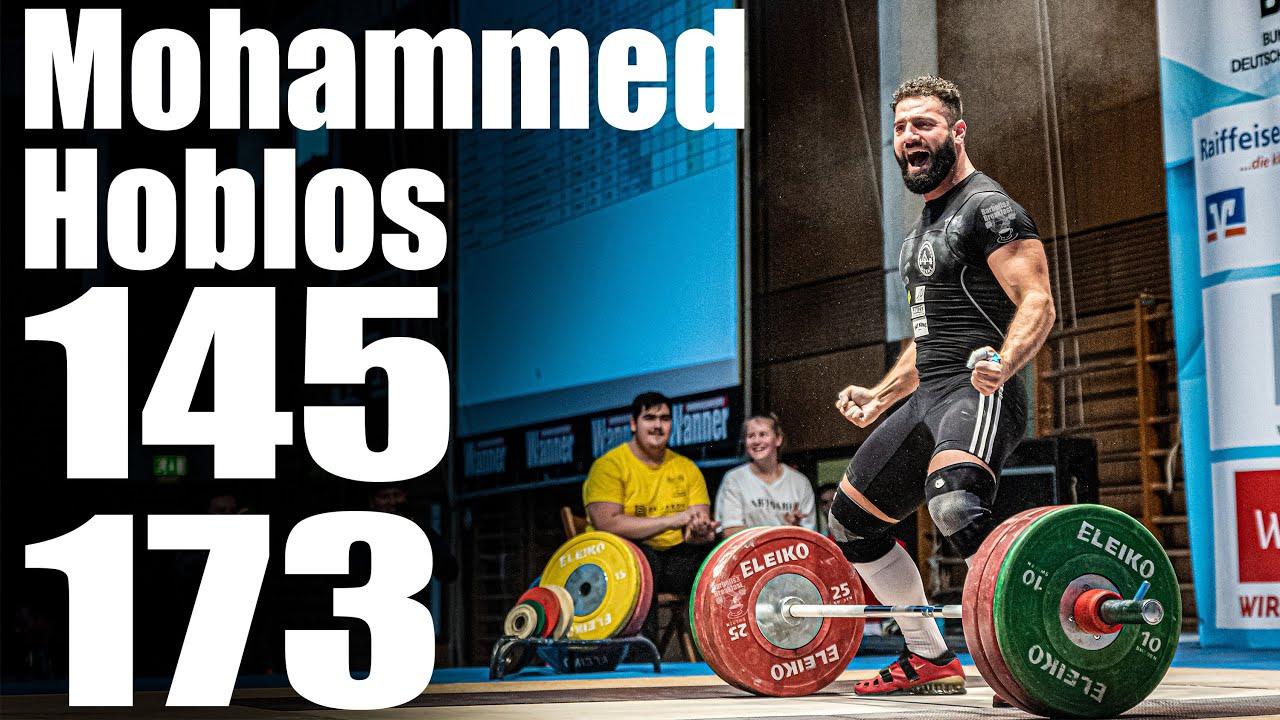 Mohammed Hoblos (88.4kg) 145kg Snatch 173kg Clean and Jerk - 2019 German Nationals (3rd place)