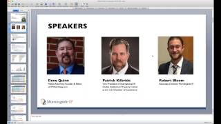 Webinar: Global Patent Landscape;  Where to File and Why