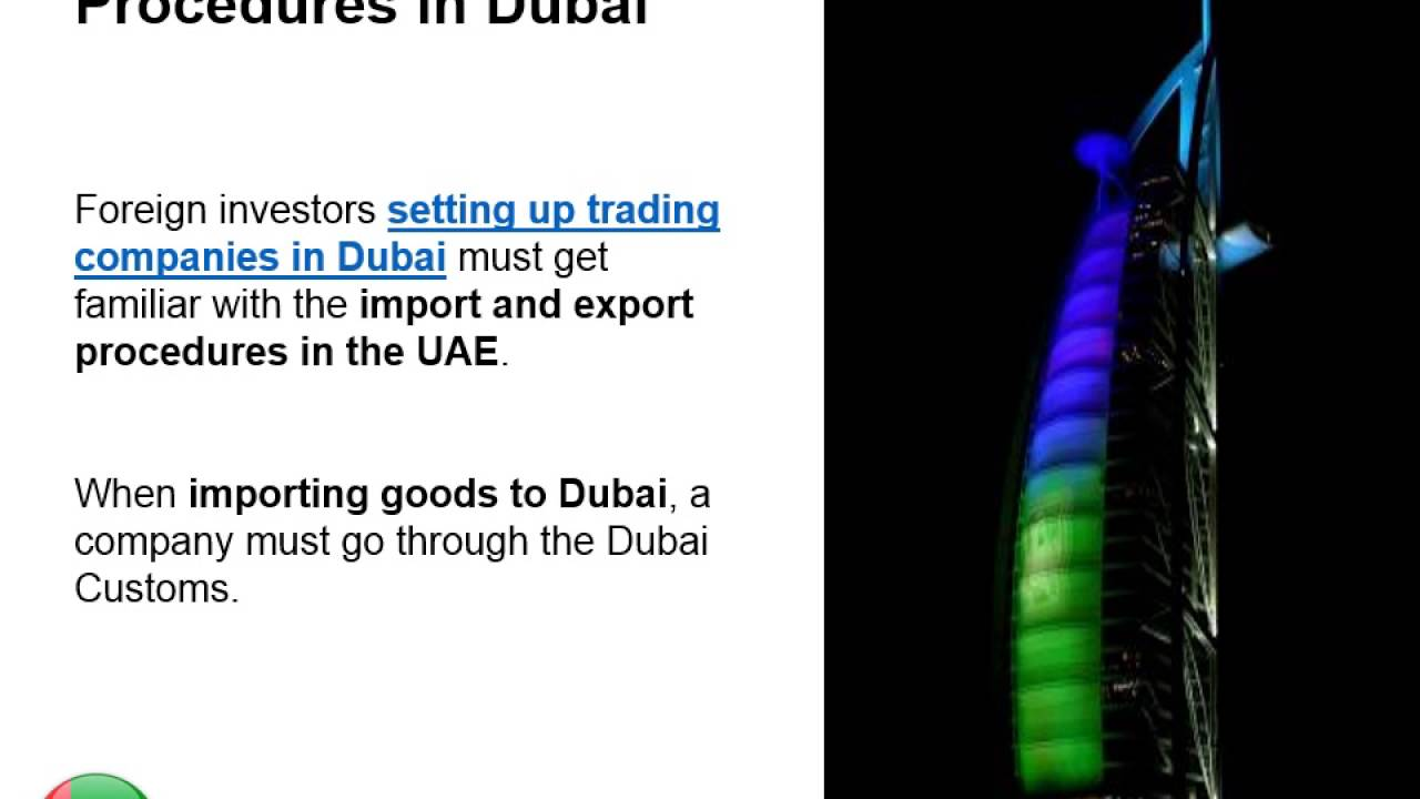 Imports and Exports in Dubai