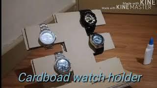 DIY Cardboad Watch holder