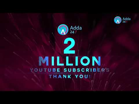 Adda247   2 Million Subscribers   Thank You So Much Guys!!