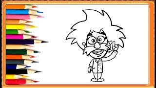 How to Draw Albert Einstein || Easy Drawings For Kids | YZArts