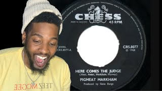 Pigmeat Markham - Here Comes The Judge + The Trial - 1968 45rpm (Reaction)