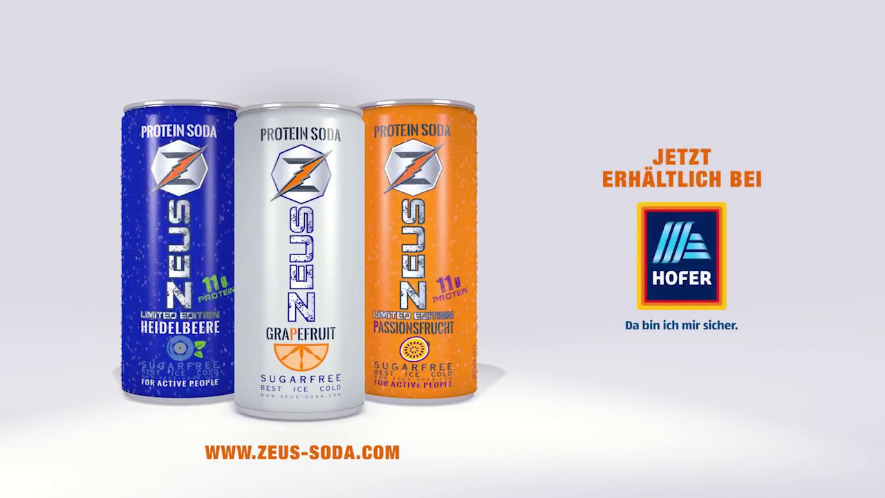 zeus protein soda limited editions passionsfrucht heidelbeere