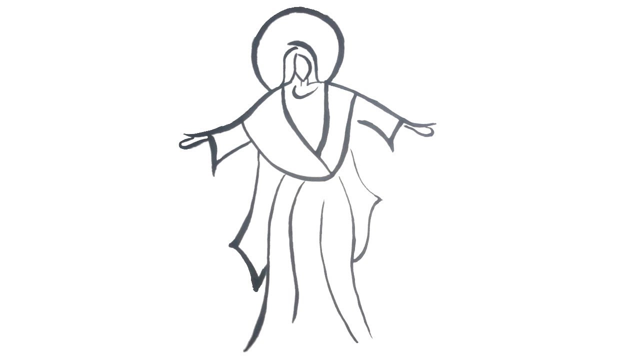 how to draw Jesus step by step for kids Easy drawing for