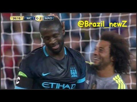 Marcelo NUTMEG against Yaya Toure 24/07/2015