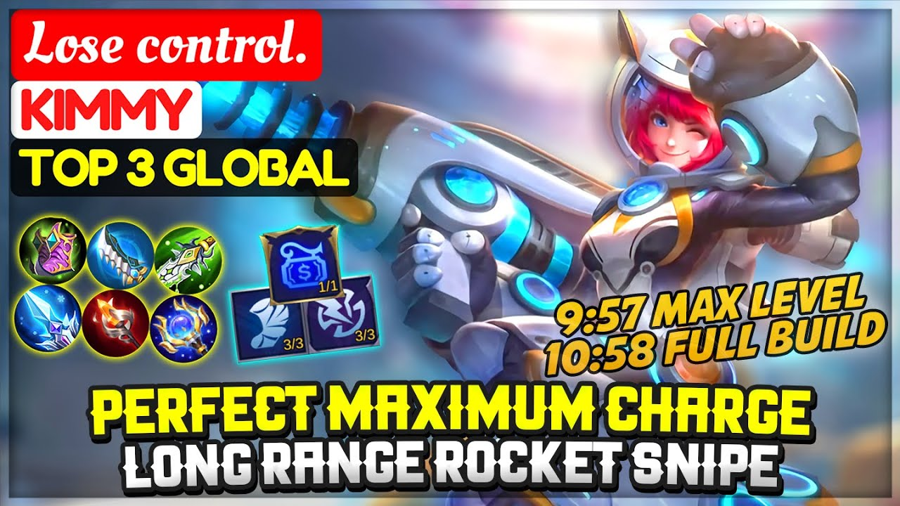 Perfect Maximum Charge, Long Range Rocket Snipe [ Top 3 Global Kimmy ] Lose control. Mobile Legends