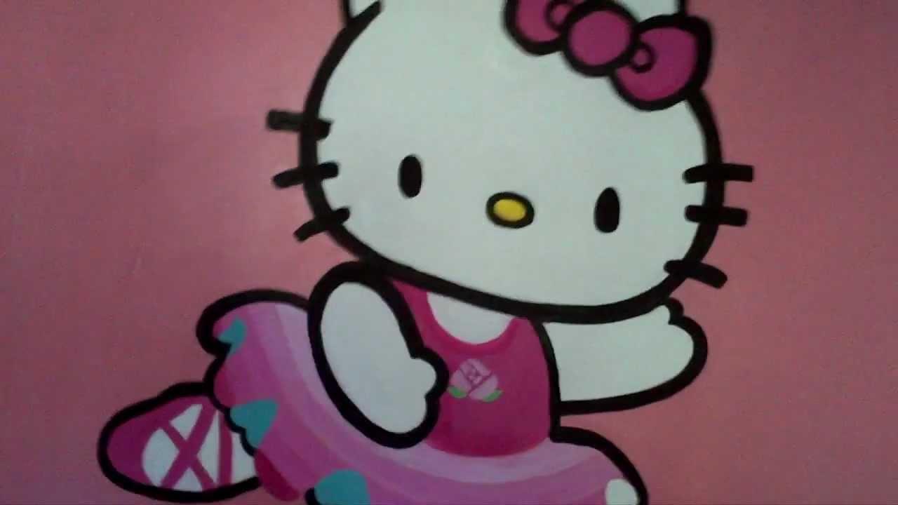 Hello Kitty Ballerina Mural...the Beginning By Drews Wonder Walls Part 44