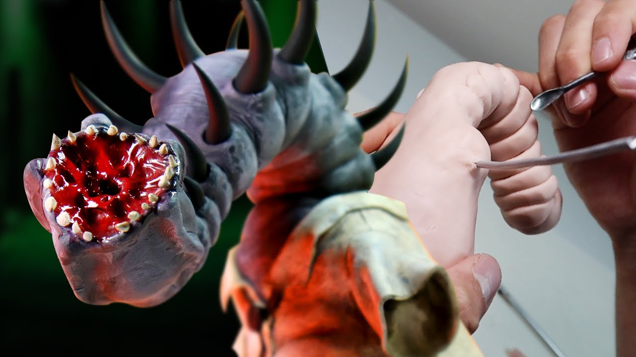 Making Up MY OWN Nightmare Character! Meet THE PARASITE - Polymer Clay Sculpture Tutorial