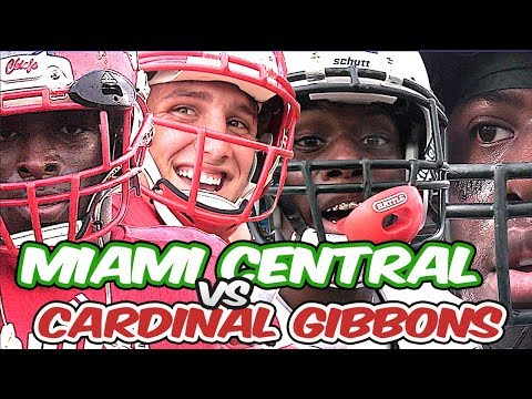 South Florida Football !! 🔥🌴 Miami Central vs Cardinal Gibbons | Nationally Ranked Showdown