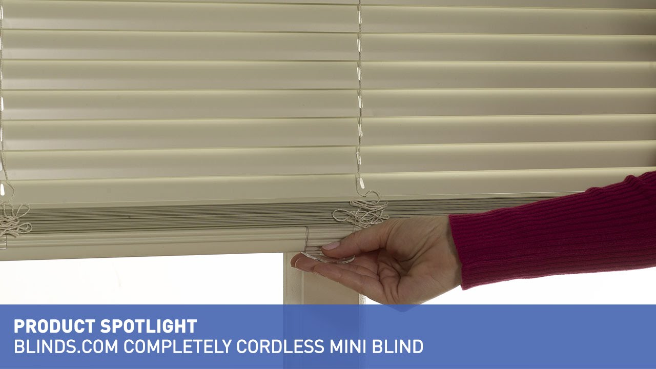 mini blinds 1 cordless mini blind product spotlight youtube. Black Bedroom Furniture Sets. Home Design Ideas