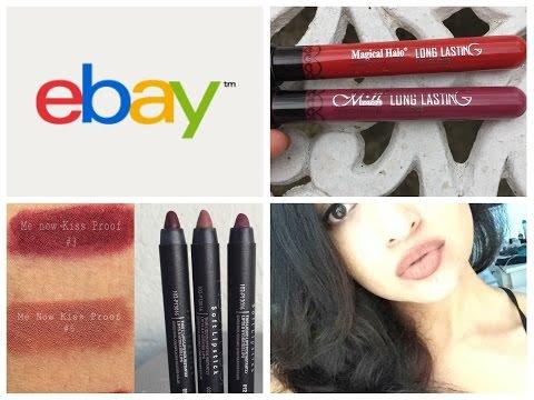 Haul Ebay: labiales líquidos, brochas, accesorios y más.