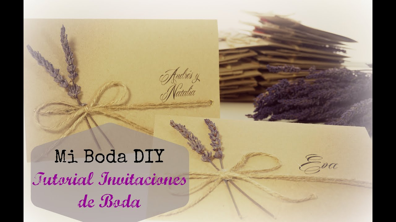 Tutorial invitaciones de boda diy boda youtube - Diy para bodas ...