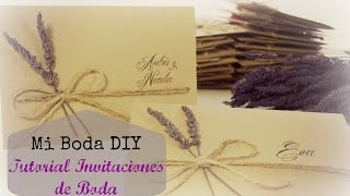 Tutorial invitaciones de Boda. DIY boda.