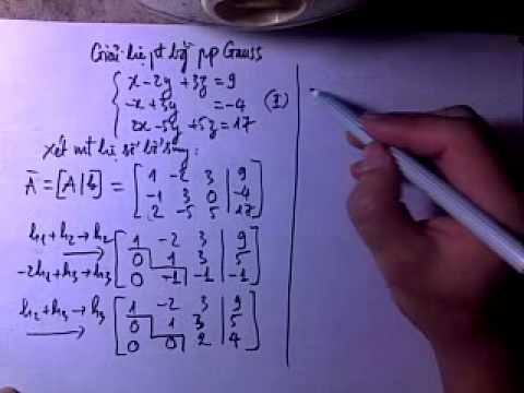 DSTT  Giai He phuong trinh- pp Gauss