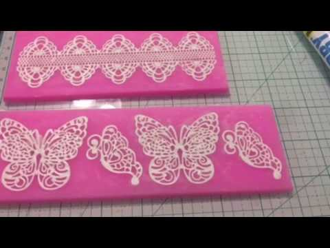 Embellishments Lace using Alex Fast Dry with silicone Molds!