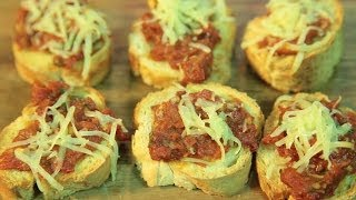 How To Make Sundried Tomato Crostini By Maithily