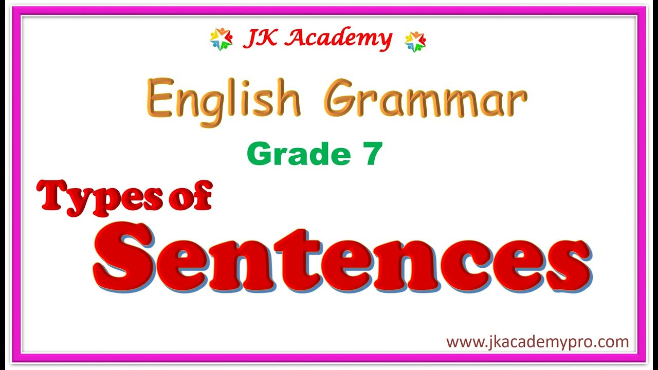 hight resolution of types of sentences grade 7   kinds of sentences grade 7   types of sentences  class 7   sentences - YouTube