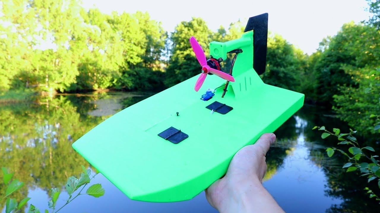 Awesome 3D Printed RC Airboat