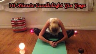 30 Minute Candlelight Yin & Meditation Yoga Class for Relaxation