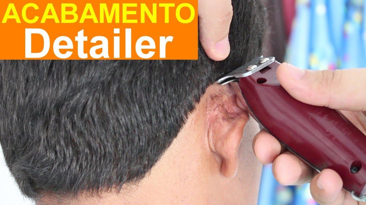 f9de2bea9 PÉ DO CABELO COM DETAILER MÁQUINA DE ACABAMENTO-CORTE MASCULINO ...