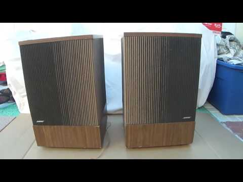 How work Vintage BOSE 501 Direct Reflecting Speakers