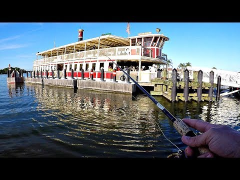 Caught A GIANT Bass Under A Disney Boat! (They All Cheered)