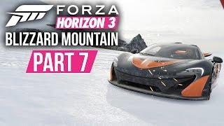 Forza Horizon 3 Blizzard Mountain Gameplay Walkthrough Part 7 - P1 ON THE SNOW & SNOW BUGGY