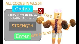 ALL 7 WEIGHT LIFTING SIMULATOR 3 NOUVEAUX CODES (Roblox) [2019]