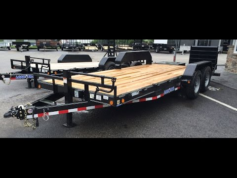 Load Trail 7x20' 14000# Implement Equipment Trailer CH14 Full Width Ramps