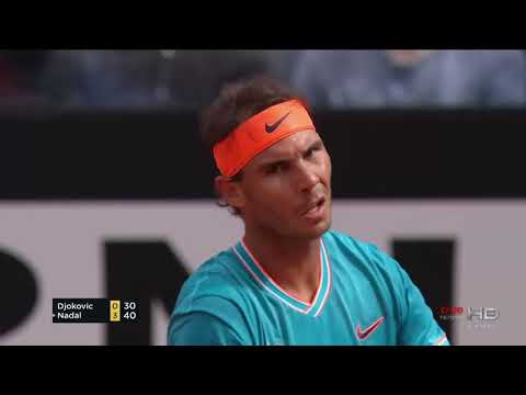 Nadal vs Djokovic Set 1 Rome Masters 2019 final