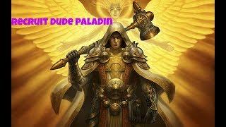 Hearthstone. Recruit dude paladin  Kobolds And Catacombs