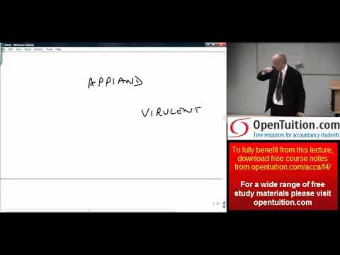 ACCA F4 Chapter 11 Company Law: Directors and Officers part 3