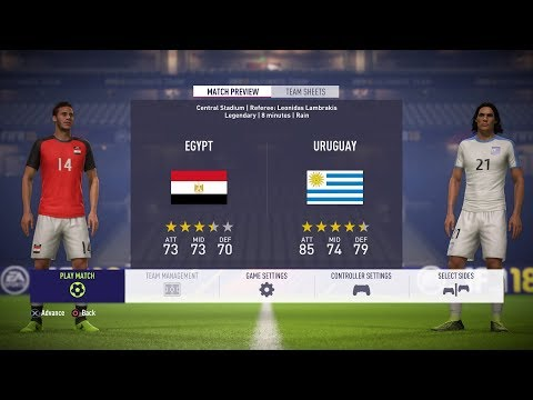 FIFA World Cup 2018 Simulation | Group A | Egypt - Uruguay | (FIFA 18)