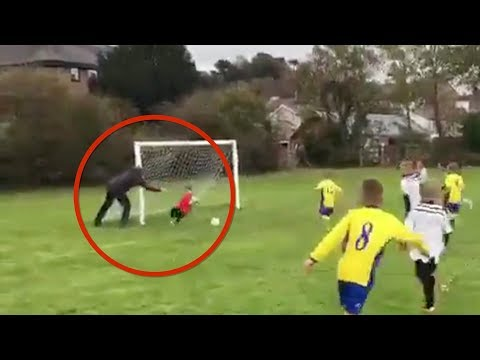 A.J. - Father Helps His Son In A Soccer Game! Quite Amusing!