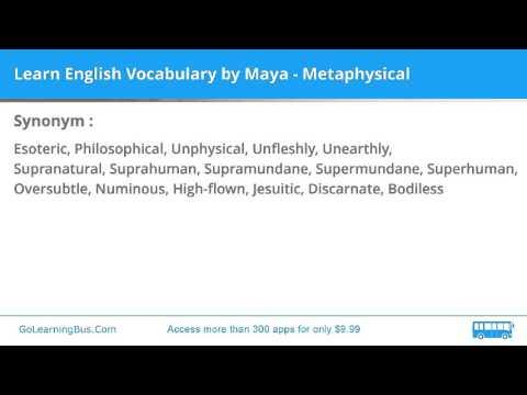 Learn English Vocabulary by Maya - Metaphysical - YouTube