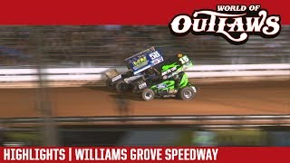 World of Outlaws Craftsman Sprint Cars Williams Grove Speedway July 21, 2017 | HIGHLIGHTS