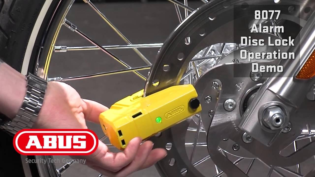 Abus Granit Detecto X Plus 8077 Alarm Disc Lock Youtube