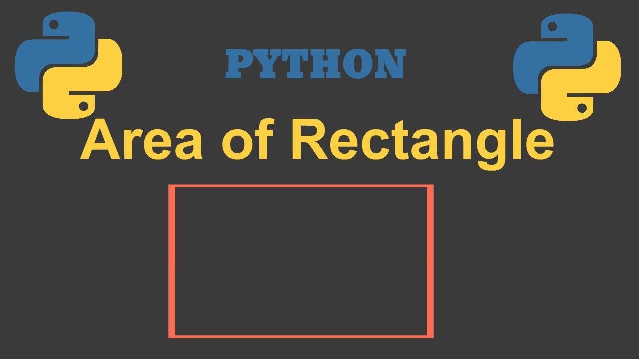 Python program to calculate area of rectangle||Python||Parvat Computer Technology