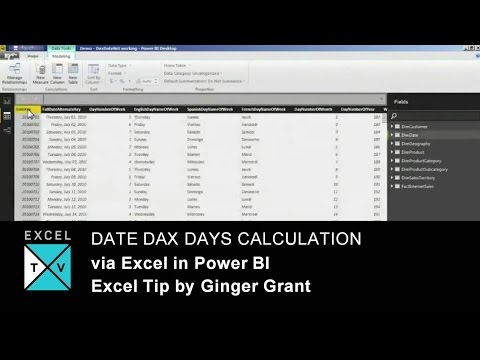 Date DAX Days Calculation via Excel in Power BI