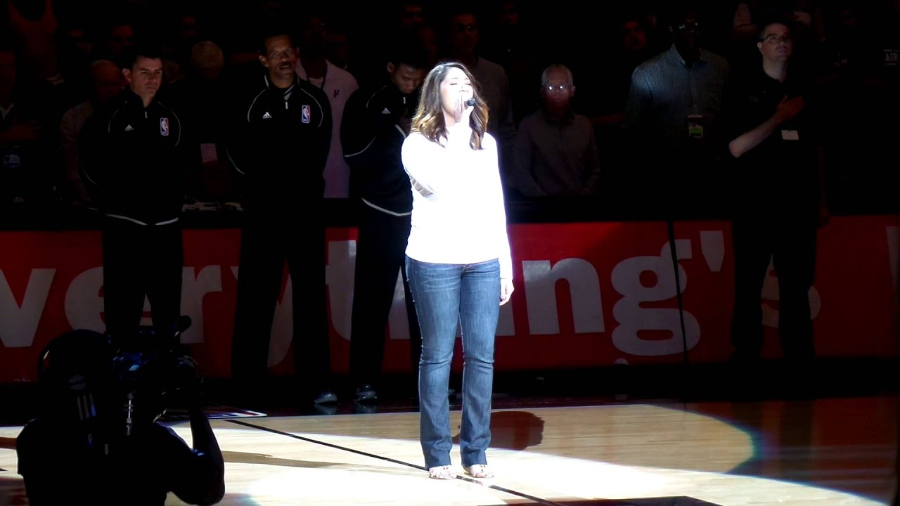 Erica Gonzaba National Anthem San Antonio Spurs Youtube